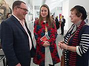 PAUL KASMIN; KARA FINNERTY; JANE KASMIN, The VIP preview of Frieze. Regent's Park. London. 16 October 2013