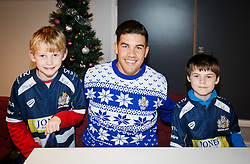 Ben Mosses of Bristol Rugby poses with young fans as Season ticket holders and members of Bristol Sport 7s and Forever Bristol take part in a Bristol Sport Christmas Party - Mandatory byline: Rogan Thomson/JMP - 22/12/2015 - SPORT - Ashton Gate Stadium - Bristol, England - Bristol Sport Christmas at Ashton Gate.
