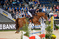 HASSMANN Felix (GER), Balzaci<br /> Stuttgart - German Masters 2019<br /> PREIS DER FIRMA XXL-SICHERHEIT<br /> Zeitspringprüfung International<br /> Qualifikation zum MERCEDES GERMAN MASTER<br /> 14. November 2019<br /> © www.sportfotos-lafrentz.de/Stefan Lafrentz