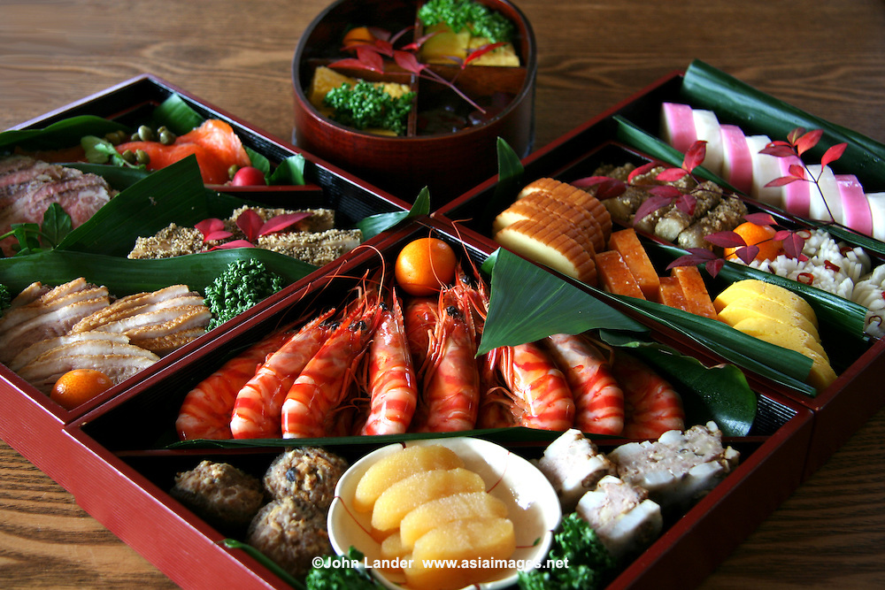 Osechi ryori japanese new year feast hakone images for Asian cuisine lander