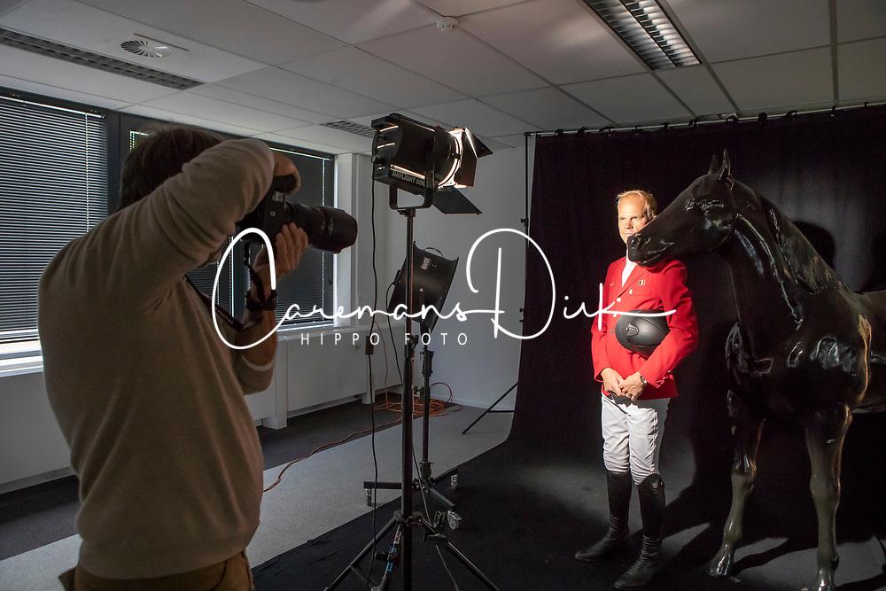 Henk van Cauwenbergh, Jerome Guery<br /> Foto shoot met Henk van Cauwenbergh voor KBRSF - Zaventem 2018<br /> © Hippo Foto - Dirk Caremans<br /> 01/05/2018