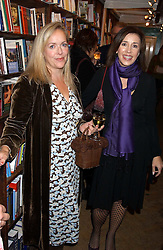 Left to right, author ISABEL WOLFF and ROZ HANNA at a party to celebrate the publicarion of The Meaning of Tingo by Adam Jacot de Boinod held at the Daunt Bookshop, 83 Marylebone High Street, London on 18th October 2005.<br />