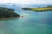 Tiny islands in the turquoise seas off Kadavu Island, Fiji