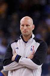 Mar 28, 2012; Oakland, CA, USA; NBA referee Eric Dalen (75) before the game between the Golden State Warriors and the New Orleans Hornets at Oracle Arena. New Orleans defeated Golden State 102-87. Mandatory Credit: Jason O. Watson-US PRESSWIRE