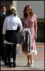 Trinny Woodall arriving at the wedding of Poppy Delevingne to James Cook at St.Paul's Church in Knightsbridge, London,  Friday, 16th May 2014. Picture by Andrew Parsons / i-Images