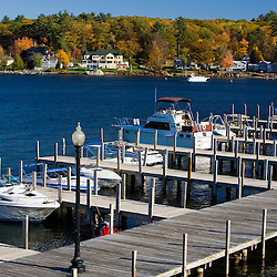The docks at Weirs Beach on Lake Winnipesauke in Laconia, New Hampshire.