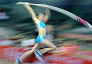 MONIKA PYREK (POLAND) WARM UP BEFORE START IN WOMEN'S POLE VAULT COMPETITION DURING INDOOR ATHLETICS MEETING PEDRO'S CUP 2011 IN LUCZNICZKA HALL IN BYDGOSZCZ...POLAND , BYDGOSZCZ , FEBRUARY 16, 2011..( PHOTO BY ADAM NURKIEWICZ / MEDIASPORT )..PICTURE ALSO AVAIBLE IN RAW OR TIFF FORMAT ON SPECIAL REQUEST.