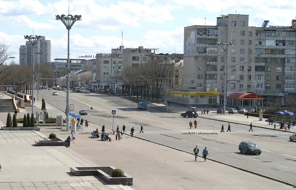 Das Zentrum der Tiraspol, Hauptstadt der abtrünnigen Republik Transnistrien. / Downtown Tiraspol, Capital of the unrecognized Republic of Transnistria.