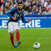 PARIS, FRANCE - September 10: Nabil Fekir #18 of France in action during the France V Andorra, UEFA European Championship 2020 Qualifying match at Stade de France on September 10th 2019 in Paris, France (Photo by Tim Clayton/Corbis via Getty Images)