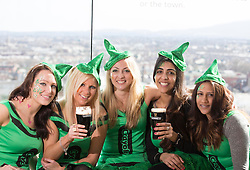 Repro Free: 15/03/2014 <br /> Penni Jeynes, Gemma Williams, Catherine Coles, Sharon Grewal and Anu Jalaf pictured at the Guinness Storehouse St. Patrick&rsquo;s Festival. The four day festival is showcasing some of Ireland&rsquo;s best music, food and rugby over the weekend including and the ultimate rugby hub with a live broadcast by Newstalk Off The Ball. Enjoy GUINNESS sensibly. Visit drinkaware.ie Picture Andres Poveda