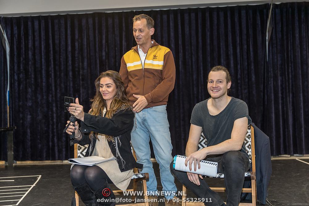 NLD/Amsterdam/20191204 - Repetities musical Verliefd op Ibiza, Guido Spek en Laura Ponticorvo
