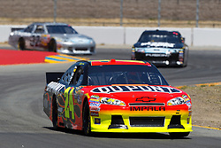 June 24, 2011; Sonoma, CA, USA;  NASCAR Sprint Cup Series driver Jeff Gordon (24) drives through turn 7 during practice for the Toyota/Save Mart 350 at Infineon Raceway.