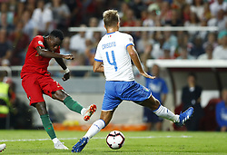 September 10, 2018 - Lisbon, Italy - Portugal v Italy - UEFA Nations League.Domenico Criscito of Italy and Bruma of Portugal at Estadio da Luz in Lisbon, Portugal on September 10, 2018. (Credit Image: © Matteo Ciambelli/NurPhoto/ZUMA Press)