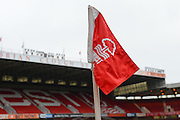 Corner flag ahead of the EFL Sky Bet Championship match between Nottingham Forest and Bristol City at the City Ground, Nottingham, England on 21 January 2017. Photo by Jon Hobley.