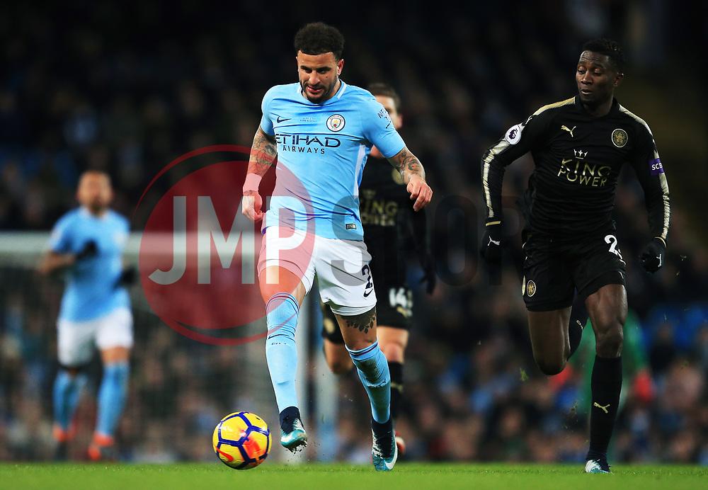 Kyle Walker of Manchester City attacks - Mandatory by-line: Matt McNulty/JMP - 10/02/2018 - FOOTBALL - Etihad Stadium - Manchester, England - Manchester City v Leicester City - Premier League