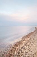 Lake Superior seen from beach at Whitefish Point Upper Peninsula Michigan