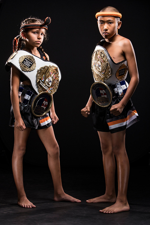 Young Muay Thai champions.  Corporate/Promotional shoot for The Way of No Way martial arts academy.