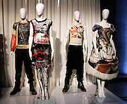 Items on display at the during the Punk: Chaos to Couture press preview event for The Costume Institute at The Metropolitan Museum of Art in New York City, New York on February 11, 2013.