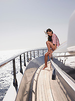 Woman on Deck of Boat