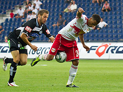 21.08.2011, Red Bull Arena, Salzburg, AUT, 1. FBL, Red Bull Salzburg vs Sturm Graz, im Bild Martin Ehrenreich, (SK Puntigamer Sturm Graz, #17) und Jeferson, (FC Red Bull Salzburg, #25), // during the Austrian Bundesliga Match, Red Bull Salzburg vs Sk Sturm Graz, Red Bull Arena, Salzburg, 2011-08-21, EXPA Pictures © 2011, PhotoCredit: EXPA/ P.Rinderer