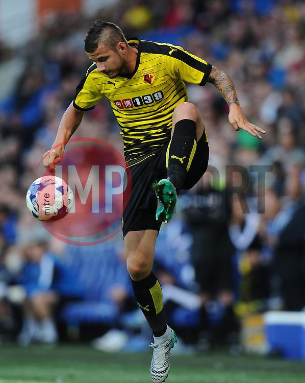 Daniel Pudil of Watford  - Mandatory by-line: Joe Meredith/JMP - 07966386802 - 28/07/2015 - SPORT - FOOTBALL - Cardiff,Wales - Cardiff City Stadium - Cardiff City v Watford - Pre-Season Friendly