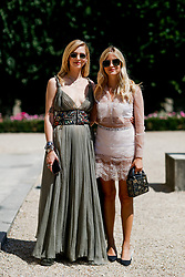 Street style, Chiara Ferragni and her sister Valentina Ferragni arriving at Dior Fall-Winter 2018-2019 Haute Couture show held at Musee Rodin, in Paris, France, on July 2nd, 2018. Photo by Marie-Paola Bertrand-Hillion/ABACAPRESS.COM