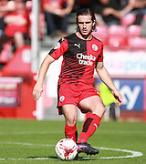 Crawley Town midfielder Luke Rooney passes during the Sky Bet League 2 match between Crawley Town and Accrington Stanley at the Checkatrade.com Stadium, Crawley, England on 26 September 2015. Photo by Bennett Dean.