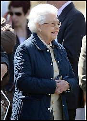 HM Queen watches her horse Tower Bridge at the Royal Windsor Horse Show. Windsor, United Kingdom. Wednesday, 14th May 2014. Picture by Andrew Parsons / i-Images