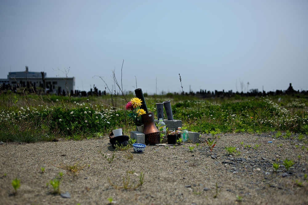 May 27, 2013 - Ishinomaki, Japan: A shrine is seen in a spot where a house use to stand, in a neighbourhood totally destroyed by the devastating tsunami that hit the east coast of Japan in 2011. (Paulo Nunes dos Santos)