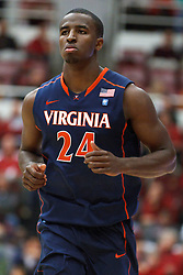 November 18, 2010; Stanford, CA, USA;  Virginia Cavaliers guard K.T. Harrell (24) enters the game during the first half against the Stanford Cardinal at Maples Pavilion.  Stanford defeated Virginia 81-60.