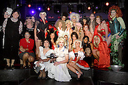 The 27 models gather for a group photo during the 2012 Masquerage Theme Release Party at Club Masque in downtown Dayton, Friday, August 3, 2012.  The 2012 theme was revealed to be Villians and Vixens, and the models wore clothing depicting famous villians or vixens.