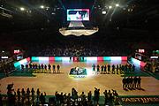 Inno nazionale italiano, Sidigas Avellino vs Vanoli Cremona, Poste Mobile Final 8 2018 Quarti di Finale, Lega Basket 2017/2018 Firenze 15 febbraio 2018 Nelson Mandela Forum