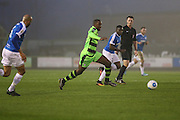 Forest Green Rovers Shamir Mullings(18) runs forward during the Vanarama National League match between Forest Green Rovers and Dover Athletic at the New Lawn, Forest Green, United Kingdom on 17 December 2016. Photo by Shane Healey.