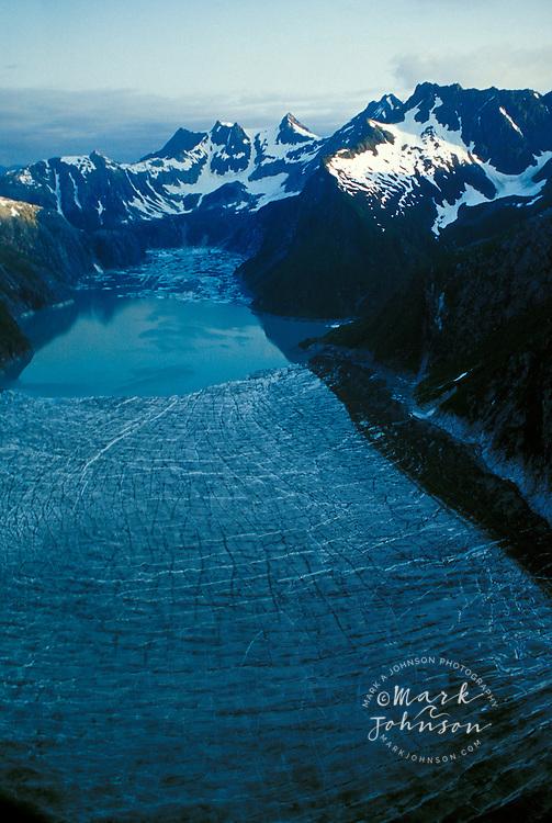 Aerial of Glacier Bay National Park, Alaska