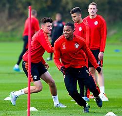 Antonio Valencia of Manchester United warms up - Mandatory byline: Matt McNulty/JMP - 07966386802 - 20/10/2015 - FOOTBALL - Aon Training Complex -Manchester,England - UEFA Champions League