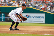 April 29, 2010:  Detroit Tigers' Brandon Inge (15) during the MLB baseball game between the Minnesota Twins vs Detroit Tigers at  Comerica Park in Detroit, Michigan.