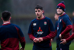 Rafael Quirke of England U20 in action during training ahead of the Under 20s Six Nations - Mandatory by-line: Robbie Stephenson/JMP - 14/01/2020 - RUGBY - Loughborough University - Loughborough, England - England U20s Training