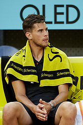 May 13, 2018 - Madrid, Madrid, Spain - Dominic Thiem of Austria looks on after his defeat in his final match against Alexander Zverev of Germany during day nine of the Mutua Madrid Open tennis tournament at the Caja Magica on May 13, 2018 in Madrid, Spain  (Credit Image: © David Aliaga/NurPhoto via ZUMA Press)