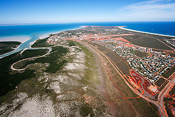 Aerial view of Roebuck Bay and Broome