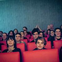Students from the CaixaEscena Program watch a performance in Oviedo, Spain.<br /> <br /> CaixaEscena is a program from the Obra Social &quot;la Caixa&quot; that promotes theatrical practices in educational centres and schools, with the aim of contributing to the integral development of children and young people thanks to the intrinsic values that theatre brings.<br /> <br /> CaixaEscena es un programa de la Obra Social &ldquo;la Caixa&rdquo; que promueve las pr&aacute;cticas teatrales en centros educativos, con el objetivo de contribuir al desarrollo integral de los ni&ntilde;os y j&oacute;venes  gracias a los valores intr&iacute;nsecos que aporta el teatro.<br /> <br /> www.caixaescena.org