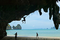 Rock climbers on Tonsai Beach South Thailand&#xA;<br />