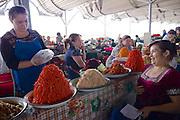 Uzbekistan, Tashkent. Chorsu Bazaar. Spices.