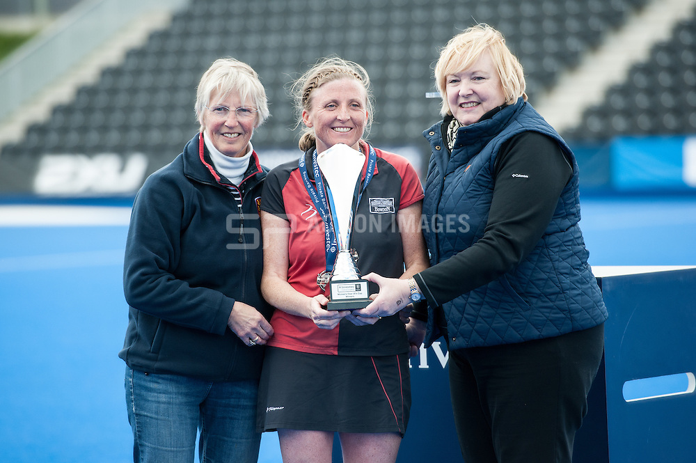 Canterbury v Bowdon - Investec Women's 35s Cup Fnal, Lee Valley Hockey & Tennis Centre, London, UK on 30 April 2016. Photo: Simon Parker
