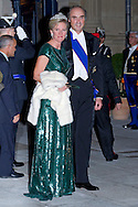 "PRINCESS ASTRID AND PRINCE LORENZ OF BELGIUM.Wedding of HRH the Hereditary Grand Duke and Countess Stéphanie de Lannoy.Gala Dinner at the Grand-Ducal Palace, Luxembourg_19-10-2012.Mandatory credit photo: ©Dias/NEWSPIX INTERNATIONAL..(Failure to credit will incur a surcharge of 100% of reproduction fees)..                **ALL FEES PAYABLE TO: ""NEWSPIX INTERNATIONAL""**..IMMEDIATE CONFIRMATION OF USAGE REQUIRED:.Newspix International, 31 Chinnery Hill, Bishop's Stortford, ENGLAND CM23 3PS.Tel:+441279 324672  ; Fax: +441279656877.Mobile:  07775681153.e-mail: info@newspixinternational.co.uk"