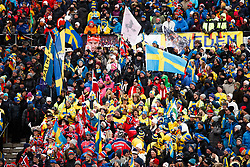 March 16, 2019 - –Stersund, Sweden - 190316 Spectators ahead of  the Women's 4x6 km Relay during the IBU World Championships Biathlon on March 16, 2019 in Östersund..Photo: Johan Axelsson / BILDBYRÃ…N / Cop 245 (Credit Image: © Johan Axelsson/Bildbyran via ZUMA Press)
