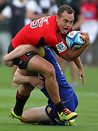 Israel Dagg on the attack for the Crusaders..Investec Super Rugby - Highlanders v Crusaders, 19 March 2011, Carisbrook Stadium, Dunedin, New Zealand..Photo: Rob Jefferies / www.photosport.co.nz
