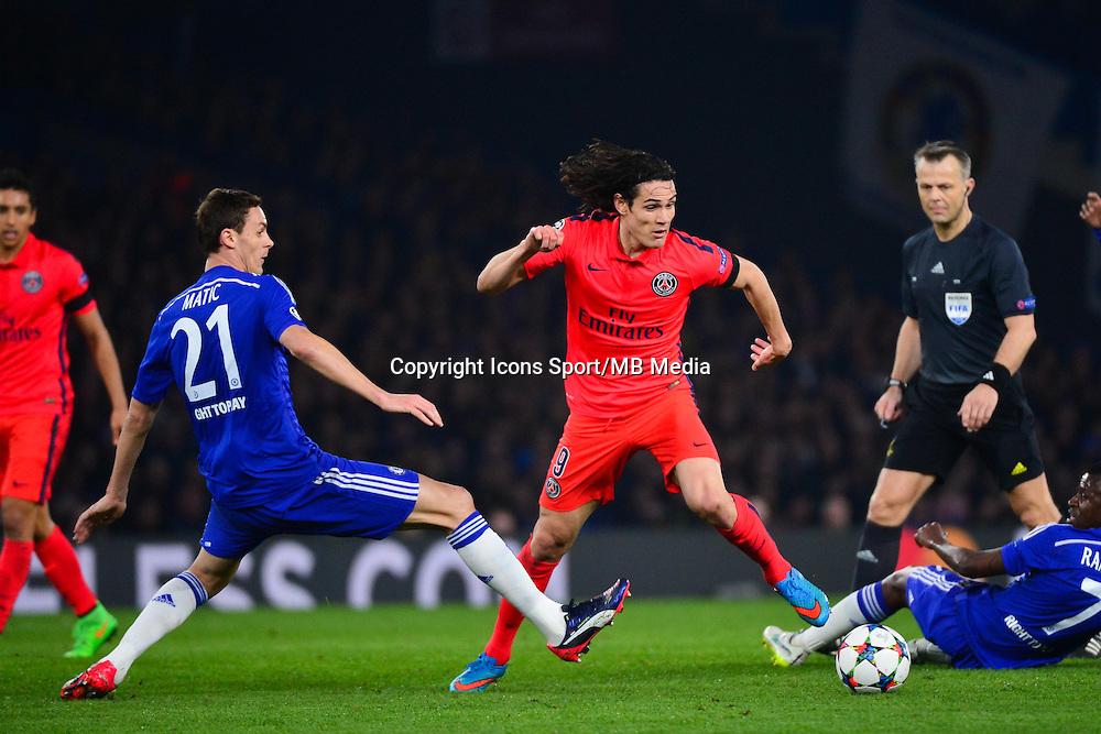 Edinson CAVANI / Nemanja MATIC / RAMIRES - 11.03.2015 - Chelsea / Paris Saint Germain - 1/8Finale retour Champions League<br /> Photo : Dave Winter / Icon Sport