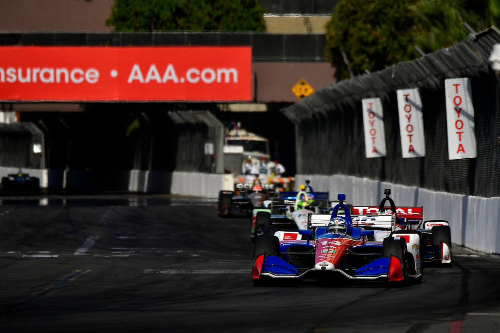 Tony Kanaan, A.J. Foyt Enterprises Chevrolet<br /> Sunday 15 April 2018<br /> Toyota Grand Prix of Long Beach<br /> Verizon IndyCar Series<br /> Streets of Long Beach, California USA<br /> World Copyright: Scott R LePage<br /> LAT Images
