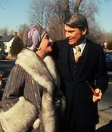 A 29 MG IMAGE OF:..Elizabeth Taylor and John Warner in day after their wedding in Middleburg, Virginia..Photo by Dennis Brack  F B 1