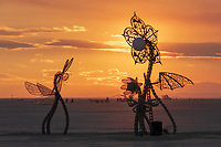 Plantoid Garden: A Blockchain-based Life-form, Featuring the Photo-synthesizer by: Primavera De Filippi &amp; Okhaos Creations from: Paris, France year: 2018 My Burning Man 2018 Photos:<br />